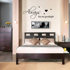 latest trends in home decor always kiss me goodnight wall quote stickers wall decals words