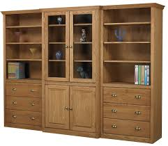 Wood Bookcase With Doors Custom Bookcases Unfinished Painted Or Stained Custom Sizes And