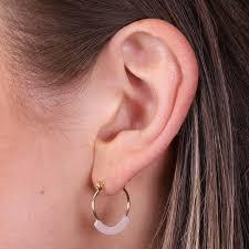 tiny hoop earrings bar tiny hoop earrings in gold beige