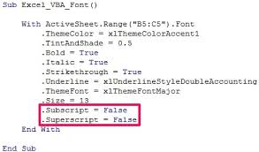 excel vba font 2 macro examples to easily specify font