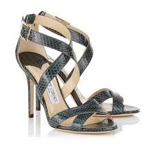 jimmy choo evergreen lottie glossy elaphe sandals formal shoes