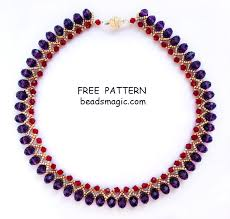 necklace making patterns images Beads magic free beading patterns and everything about handmade jpg