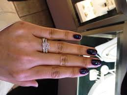 Wedding Ring And Band by This Is My Engagement Ring I Really Love Infinity Bands And