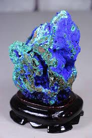 ornaments of malachite azurite mineral