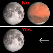mars big as the moon not in 2015 or