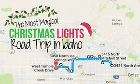 take this road trip to see the best christmas light displays in idaho