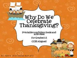 why do we celebrate thanksgiving printable book and literacy