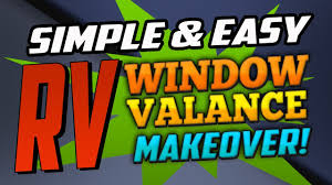 simplest u0026 easiest way to recover your rvs window valances