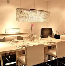 siljoy modern crystal chandelier lighting rectangular pendant