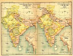 British India Map by Religion Wise Demographics India 1837 1857 Indpaedia