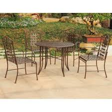 Wrought Iron Patio Dining Set 5 Wrought Iron Patio Furniture
