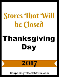 closed on thanksgiving day 2017