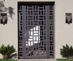 Metal Door Designs Contemporary Metal Gate Panels Steel Wrought Iron Custom Designer