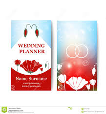 wedding planner business card card wedding business card template