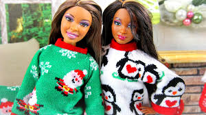 how to make a doll ugly christmas sweater doll crafts youtube