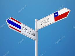 Chile Santiago Flag Thailand Chile Sign Flags Concept U2014 Stock Photo Eabff 57075063