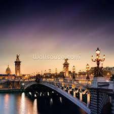 Eiffel Tower Wallpaper For Walls Pont Alexandre Iii Paris Wallpaper Wall Mural Wallsauce