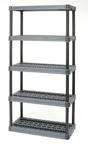 Spice Rack Plano Plano 5 Shelf Heavy Duty Resin Interlocking Shelving Unit Holds