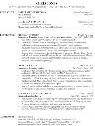 Sample Resume With Experience by Investment Banking Analyst Resume Berathen Com