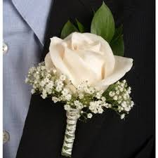 corsage flowers ivory boutonniere and corsage wedding package
