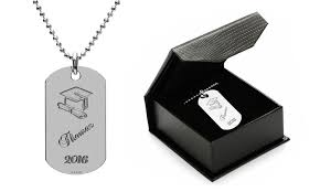 graduation dog tags graduation dog tag necklace in rhodium plated sterling silver