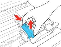epson l replacement instructions removing and installing ink cartridges