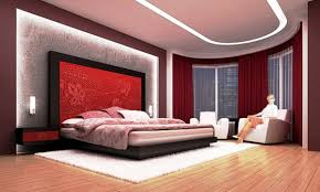 Red Feature Wall In Bedroom Bedroom Fabulous Bed Side White Table Under Nice Window In