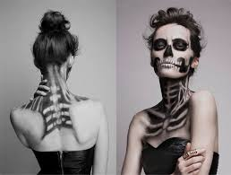 skeleton make up by mademoiselle mu women pinterest