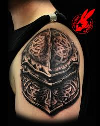 realistic 3d armor tattoo by jackie rabbit by jackierabbit12 on