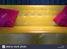Yellow Leather Sofa Yellow Wall Sofa Stock Photos U0026 Yellow Wall Sofa Stock Images Alamy