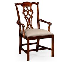 Style Classic Mahogany Chair Arm