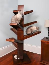 Modern Cat Trees Furniture by Catalpa Cat Tree With 3 Platforms Sets From The Refined Feline