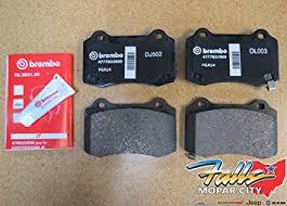 jeep grand rear brakes amazon com jeep grand srt brembo rear brake pads mopar