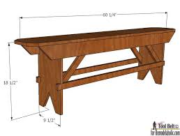 Plans To Build A Wood Bench by Remodelaholic How To Build A Primitive Farmhouse Bench