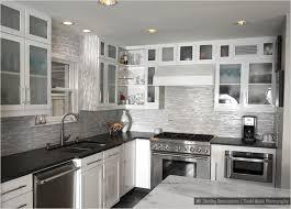 Fascinating Kitchen Backsplash White Cabinets Black Countertop - Backsplash for white cabinets