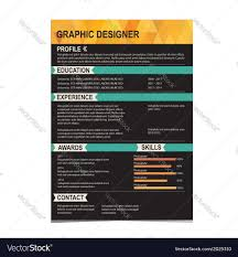 Resume Backgrounds Resume Template Cv Creative Background Royalty Free Vector