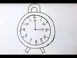 how to draw a clock easy drawing how to draw a clock with basic