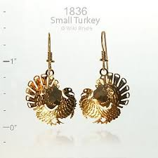 bryde jewelry small thanksgiving turkey earrings