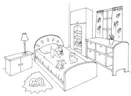 coloriage de chambre de fille coloriages d objets chambre