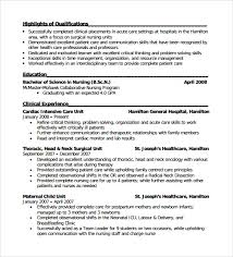 Resume For Charge Nurse Sample Nursing Resume Sample Nursing Curriculum Vitae Templates