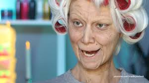 theatrical halloween makeup old lady lex old age makeup tutorial no prosthetics no latex