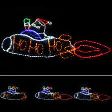 large animated rope lights silhouette outdoor wall