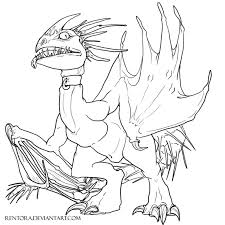 night fury coloring page deadly nadder free lineart by rentora deviantart com on