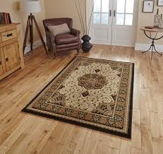heritage traditional floral swirl pattern rug soft wool look