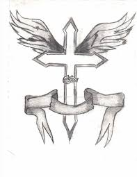 cross with wings and ideas