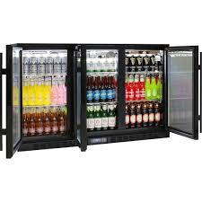 under bench glass 3 door commercial bar fridge with lg compressor