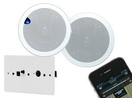 dab radio 3 5 ceiling speakers for bathroom and kitchen syste