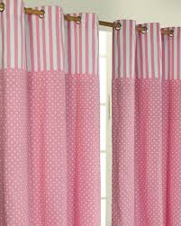 Curtain Pair Polka Dots Pink Ready Made Eyelet Curtain Pair Homescapes