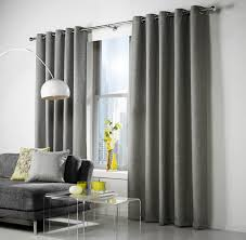Long Kitchen Curtains by Linen Tweed Look Lined Curtains Grey Dove Gray Silver Eyelet Top