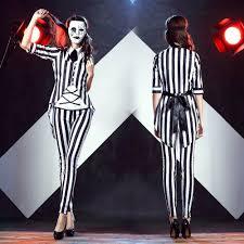 Black White Striped Halloween Costume Halloween Spider Picture Detailed Picture Weird Joker